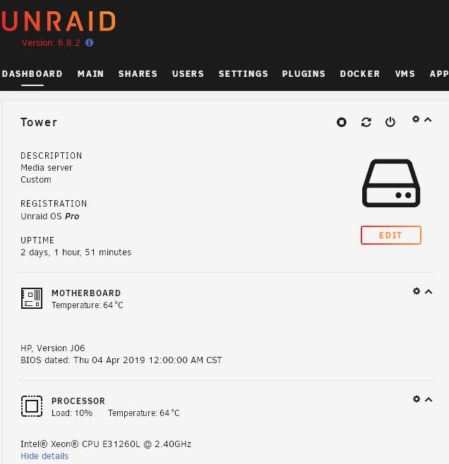 unRaid系列八:显示主板、CPU传感器温度